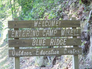 Camp Mikell Entrance sign