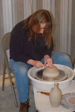 Pottery is one of the classes offered during the Mikell Folk School at the St. Joseph Art Center.